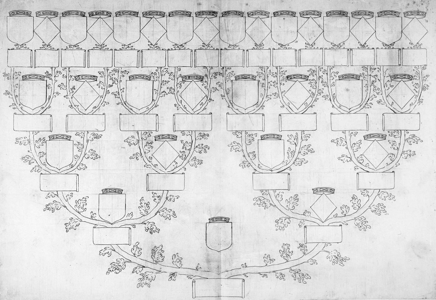 Cadeau un arbre g n alogique peindre ou colorier compl ter illustrer yvon g n alogie - Arbre genealogique dessin ...