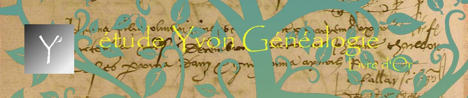 étude Yvon Généalogie - Livre d\'Or