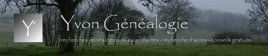 Étude Yvon Généalogie - généalogiste professionnelle familiale