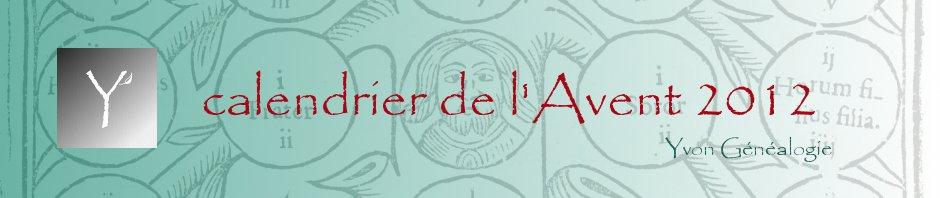 calendrier de l\'Avent 2012 du blog Entre nous et nos Ancêtres