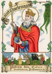 Charlemagne, <br />Saint Patron des écoliers