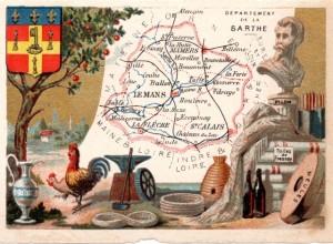 Chromo - Le département de la Sarthe