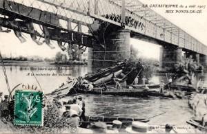 CPA Les Ponts-de-Cé (49) - Catastrophe de 1907