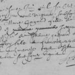 Acte de mariage SALLÉ x GAIGNARD - 1690, Thorée-les-Pins