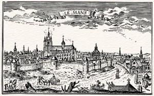 Le Mans : la ville et la cathédrale, au XVIIIe siècle