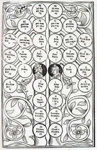 Arbor pro agnatis-pros cognatis par Fernand Berenger, 1552 - © Bibliothèque de Toulouse