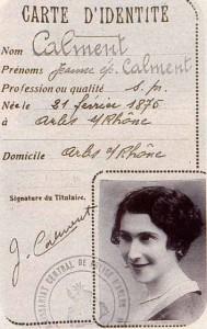Carte d'Identité de Jeanne CALMENT