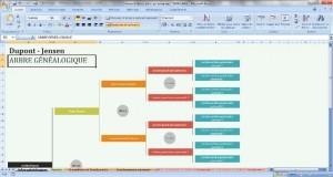 Microsoft Excel - arbre généalogique sur 5 générations