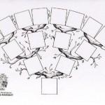 Arbre généalogique décoré - 4 générations | AGFH