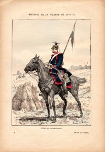 Guerre de 1870-1971 - Uhlan prussien en reconnaissance | collection Yvon Généalogie