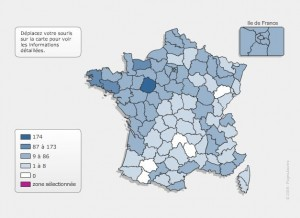 Carte de France des YVON | © Pages Jaunes