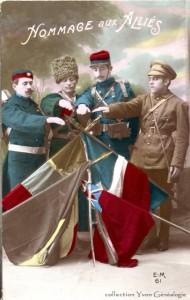 CPA - Hommage aux Alliés