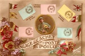 CPA - Langage du Cachet de la Poste du Poilu