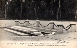 CP - Rethondes - Emplacement du Wagon des Plénipotentiaires Allemands | Delcampe