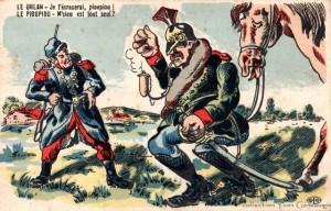 CPA - Le Uhlan et le Pioupiou