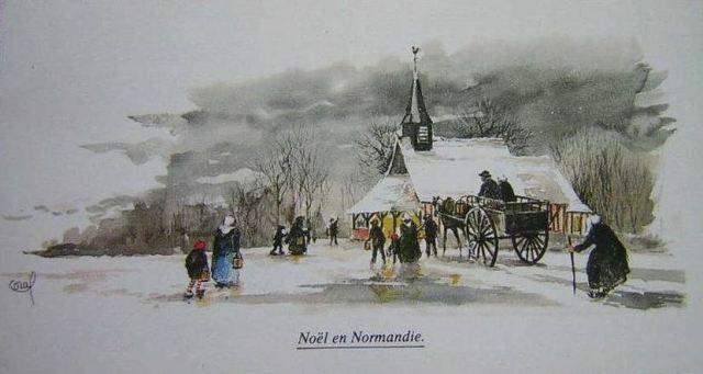 Noël en Normandie - Carte Postale