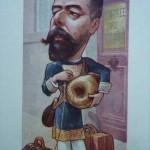 Paul DOUMER caricaturé par B. MOLOCH, vers 1900