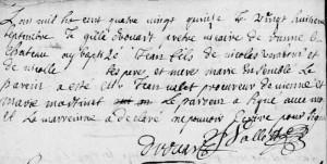 AB VARABOUR Jean, 1695, Vienne-le-Château (Marne)
