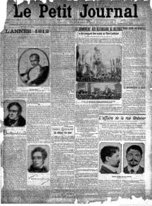 Le Petit Journal, une du 1er janvier 1912