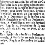 Édit royal de septembre 1697