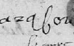 Signature de Nicolas VAURABOUR, Glos-la-Ferrière (Orne), 1668