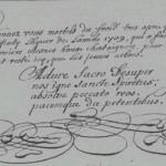 Chronique du curé de La Quinte (72), 1709