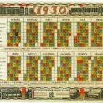 Calendrier soviétique pour l'année 1930