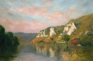 Bords de Seine aux Andelys par Adolphe ALBERT