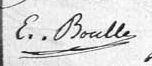 signature d'Eugène BOULLE, 1847
