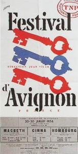 affiche du Festival d'Avignon, 1954