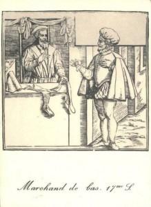 Carte Postale - Marchand de bas, 17e s.