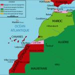 Carte des protectorats du Maroc