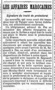 Une du quotidien Le Figaro du 1er avril 1912 - extrait | Gallica © BnF