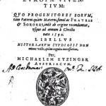 Thesaurus principum hac aetate in Europa viventium - Michaelem Eyzinger, 1590