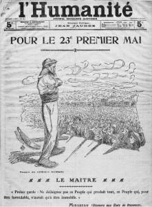 L'Humanité - une du 1er mai 1912 `| Gallica © BnF