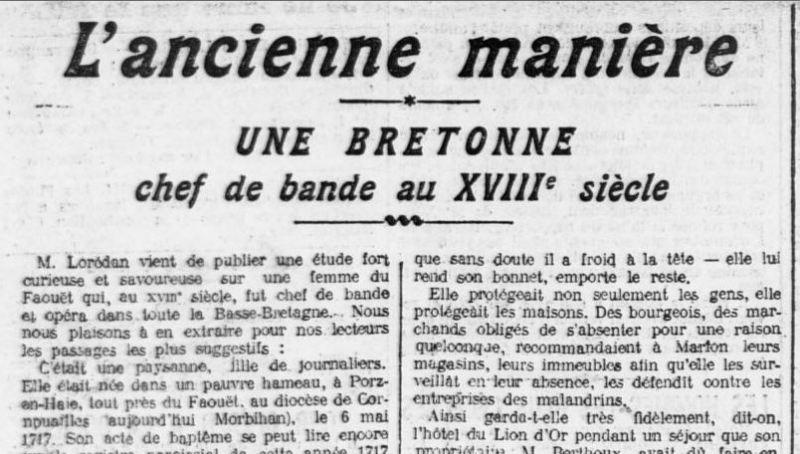 Une de L'Ouest-Eclair du 8 mai 1912 - extrait | Gallica © BnF