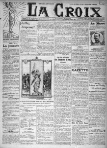 La Croix - une du 19 mai 1912 | Gallica © BnF