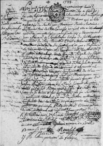 Réception de la relique de Saint-Bomer, 1788 Thorigné - Cote 1MI 1235 R7 vue 133