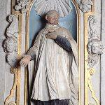 statue de Saint-Bomer, XVIIème siècle, église Notre-Dame, Thorigné-sur-Dué (Sarthe)