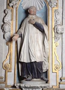 statue de Saint-Bomer, XVIIe siècle, église Notre-Dame, Thorigné-sur-Dué (Sarthe)