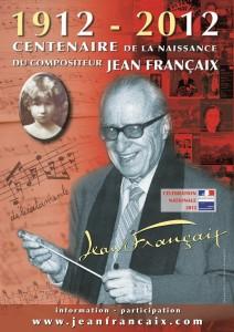 affiche officielle du centenaire - Jean Françaix (1912-1997), compositeur