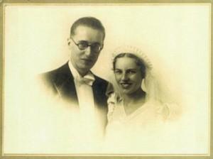 photo de mariage de Jean FRANÇAIX et Blanche YVON, 1937