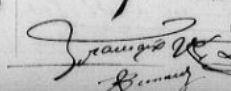 signature de Désiré FRANÇAIX, 1880