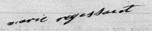 signature de Marie RÉGISSAËRT, 1825