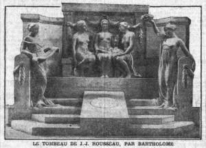 Monument Jean-Jacques Rousseau, 30 juin 1912