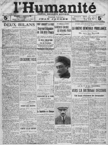 L'Humanité, une du 18 juin 1912