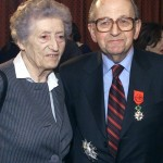 Raymond et Lucie AUBRAC en mars 2000 à l'Élysée