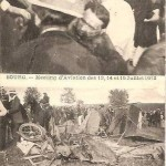 CPA - Bourg (Ain) - Meeting d'Aviation des 13, 14 et 15 Juillet 1912 - Chute Mortelle d'Olivérès