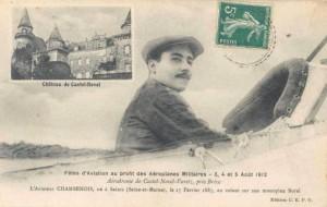CPA - Brive (Corrèze) - Fêtes d'Aviation au profit des Aéroplanes Militaires - 3, 4 et 5 Août 1912 - L'Aviateur CHAMBENOIS