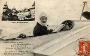 CPA - Brive (Corrèze) - Fêtes d'Aviation au profit des Aéroplanes Militaires - 3, 4 et 5 Août 1912 - L'Aviateur Roland GARROS